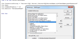 Connecting to SQLServer VBA