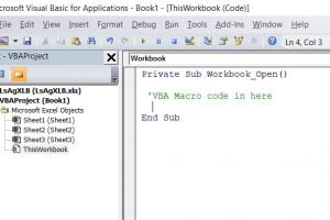 Run macro on open file event